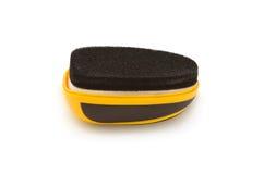 Polishing sponge for shoes on white Stock Photos