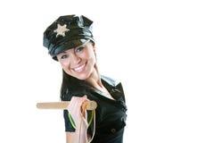 poliskvinna Royaltyfri Foto