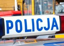 Polismedel på brotts- plats Arkivfoton
