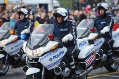 Polismotorcyklar Arkivbild