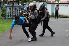 Polisoperationsimulering Arkivfoton