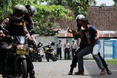 Polisoperationsimulering Royaltyfria Foton