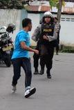 Polisoperationsimulering Royaltyfria Bilder