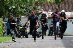 Polisoperationsimulering Royaltyfri Fotografi