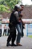 Polisoperationsimulering Fotografering för Bildbyråer