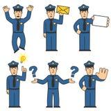 polisset för 05 tecken royaltyfri illustrationer