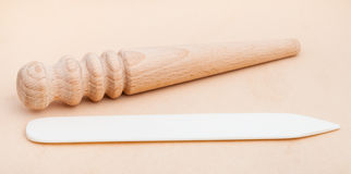 Polissoirs de mouler plats et ronds et brunisseurs de bord Photographie stock libre de droits