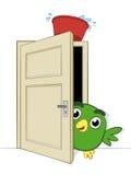 Polisson étant joué sur un petit oiseau mignon Images libres de droits