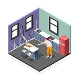 Polissons de Cat Isometric Composition illustration libre de droits
