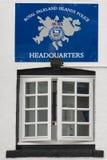 Polisstation i Stanley, Falkland Royaltyfria Foton