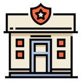 PolisstationLineColor illustration stock illustrationer