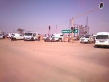 Polisstopingslag Royaltyfri Foto