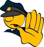 polisstopp Arkivbild