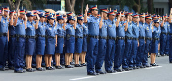 Polisstyrkarekrytering Arkivfoto