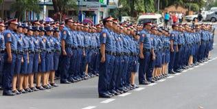 Polisstyrkarekrytering, Manila, Philippines Arkivfoto