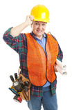 Polite Female Construction Worker royalty free stock photos