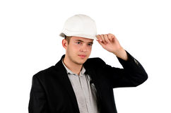 Polite young architect or engineer Stock Photo