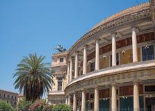 Politeama Garibaldi theater in Palermo, Sicily. Royalty Free Stock Image
