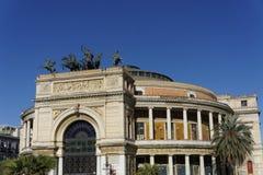 Politeama opera house Royalty Free Stock Image