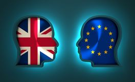 Politic and economic relationship between European Union and Britain. Image relative to politic and economic relationship between European Union and Britain Royalty Free Stock Photo