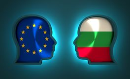 Politic and economic relationship between European Union and Bulgaria. Image relative to politic and economic relationship between European Union and Bulgaria Stock Photos
