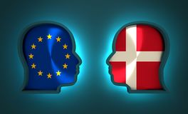 Politic and economic relationship between European Union and Denmark Royalty Free Stock Photo