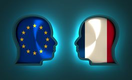 Politic and economic relationship between European Union and France. Image relative to politic and economic relationship between European Union and France Royalty Free Stock Photos