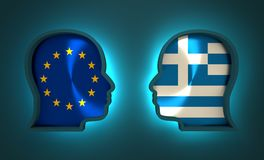Politic and economic relationship between European Union and Greece. Image relative to politic and economic relationship between European Union and Greece Royalty Free Stock Photography