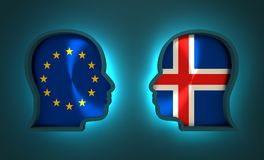 Politic and economic relationship between European Union and Iceland. Image relative to politic and economic relationship between European Union and Iceland Stock Photo