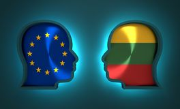 Politic and economic relationship between European Union and Lithuania. Image relative to politic and economic relationship between European Union and Lithuania Stock Photo