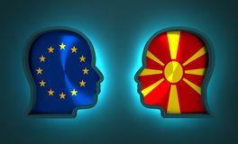 Politic and economic relationship between European Union and Macedonia. Image relative to politic and economic relationship between European Union and Macedonia Stock Images