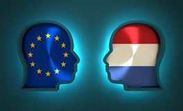 Politic and economic relationship between European Union and Netherlands. Image relative to politic and economic relationship between European Union and Stock Images