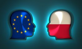 Politic and economic relationship between European Union and Poland. Image relative to politic and economic relationship between European Union and Poland Royalty Free Stock Photos