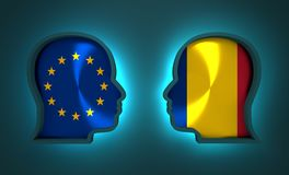 Politic and economic relationship between European Union and Romania. Image relative to politic and economic relationship between European Union and Romania Royalty Free Stock Photos