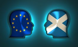 Politic and economic relationship between European Union and Scotland. Image relative to politic and economic relationship between European Union and Scotland Stock Images