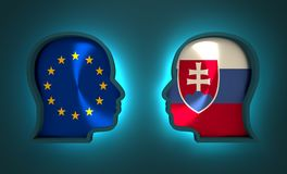 Politic and economic relationship between European Union and Slovakia. Image relative to politic and economic relationship between European Union and Slovakia Royalty Free Stock Photography