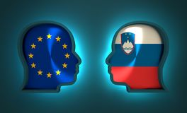 Politic and economic relationship between European Union and Slovenia. Image relative to politic and economic relationship between European Union and Slovenia Stock Image