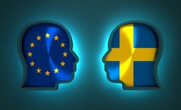 Politic and economic relationship between European Union and Sweden. Image relative to politic and economic relationship between European Union and Sweden Stock Photography