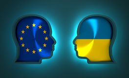 Politic and economic relationship between European Union and Ukraine. Image relative to politic and economic relationship between European Union and Ukraine Royalty Free Stock Photography