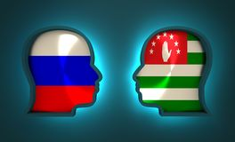 Politic and economic relationship between Russia and Abkhazia Royalty Free Stock Image