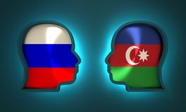 Politic and economic relationship between Russia and Azerbaijan. Image relative to politic and economic relationship between Russia and Azerbaijan. National Royalty Free Stock Image