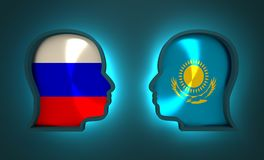 Politic and economic relationship between Russia and Kazakhstan. Image relative to politic and economic relationship between Russia and Kazakhstan. National Royalty Free Stock Images
