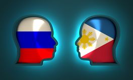 Politic and economic relationship between Russia and Philippines. Image relative to politic and economic relationship between Russia and Philippines. National Royalty Free Stock Photos