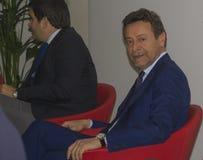 Politic raffaele baldassarre and raffaele fitto Stock Photo
