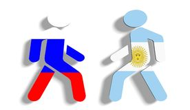 Politic relations between russia and argentina relative background Royalty Free Stock Image