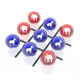 Politic tick-tack-toe Royalty Free Stock Images