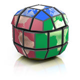 Politica globale, concetto di globalizzazione 3d Fotografie Stock Libere da Diritti