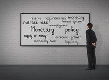 Politica monetaria immagine stock