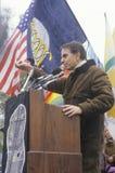 Political activist, Carl Sagan. Speaking at rally, Washington D.C Royalty Free Stock Images