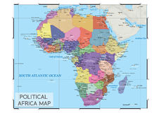 Political Africa map Royalty Free Stock Photography